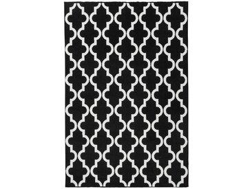 Tapis scandinave géométrique pour salon Riou Noir 200x290