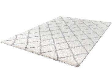 Tapis scandinave shaggy rectangle Leon Ivoire 160x230
