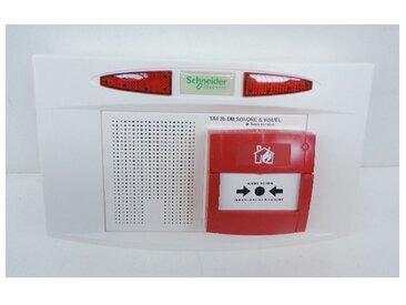 Tableau d'alarme incendie type 4 diffusion sonore et visuel 230VAC + 2 batt 9V Ni-MH 2 boucles Pyros SCHNEIDER CCT57373