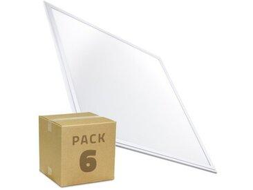 PACK Panneaux LED Slim 60x60 40W 3200lm (6x19.19€) Blanc Chaud 2800K-3200K