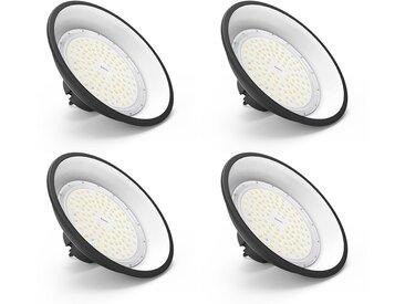 4×Anten 100W UFO Projecteur LED Lampe Industrielle Suspension IP65 Phare de Travail 13000LM Spot Lumière Blanc Froid 6000K Coque Noir