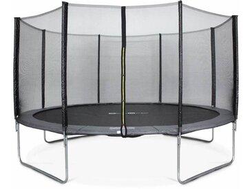 Trampoline Ø430cm - Vénus gris avec son filet de protection - Trampoline de jardin 430 cm 4m| Qualité PRO. | Normes EU.