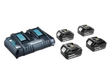 Pack Energie 4 batteries 5.0AH +Chargeur double rapide MAKITA + Port USB PACK4BAT