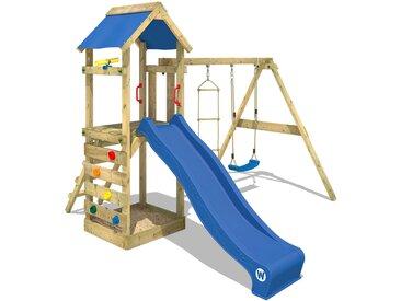 Aire de jeux WICKEY FreeFlyer avec toboggan, bac à sable et balançoire, blue