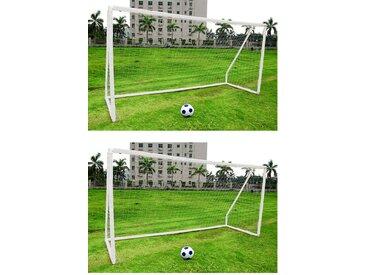 Cage de football portable en plastique pour enfant - blanc - 305 cm x 183 cm