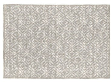 Tapis scandinave beige coton plat Gobi Beige 120x170