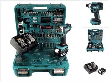 Makita DTD 152 SMTK Visseuse à chocs sans fil 18 V + 1x Batterie 4,0 Ah + Chargeur + Set d'outils de 101 Pièces