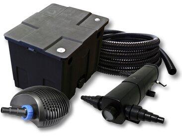 Kit de filtration de bassin pour 12000l avec 24W Stérilisateur et CTF éco Pompe avec 20W 25m Tuyau