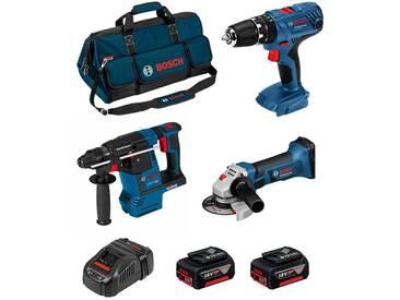 BOSCH Kit PSB3M3C (GBH 18 V-26F + GSB 18V-21 + GWS 18-125 V-LI + 2 x 4,0Ah + GAL1880CV + HDBAG)