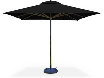 Parasol très haut de gamme carré SeaPoint 3x3m Gris foncé Sunbrella Inox et bois Ouverture automatique