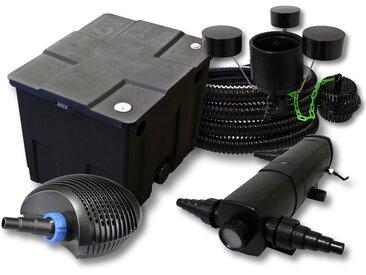 Kit filtration de bassin 12000l avec 24W Stérilisateur CTF Pompe avec 20W 25m Tuyau Skimmer CSP-250