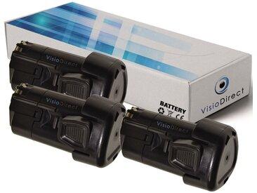 Lot de 3 batteries pour Black et Decker HPL106 rabot électrique 1500mAh 10.8V