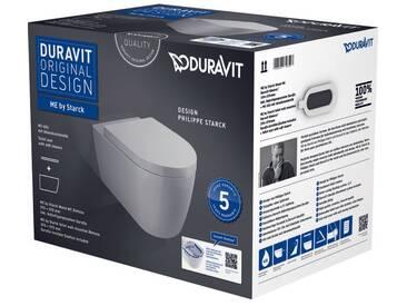 Pack WC suspendu Duravit ME by Starck 452909 - cuvette Rimless + abattant frein de chute, système Durafix inclus