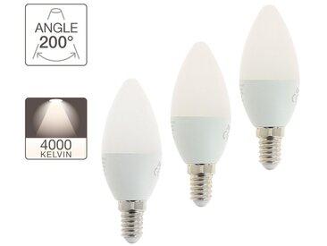 Ampoule LED flamme, culot E14, 5W cons. (40W eq.), lumière blanc neutre
