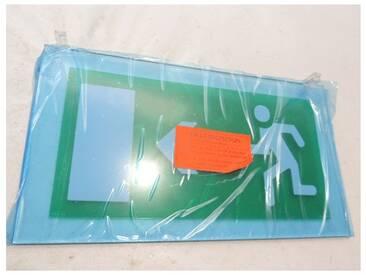 Plaque de signalisation avec picto flèche horizontale de sortie gauche ou droite pour BAES par tranche Arcor LEGRAND 062582