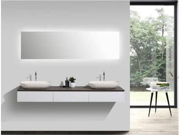 Ensemble de salle de bain Vision 1800 blanc mat - miroir et vasque en option: Sans miroir, Sans couvercle suppl., Sans vasque à poser