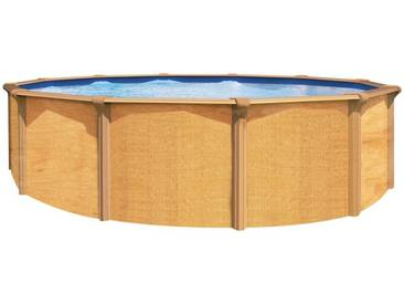 Piscine hors sol métal aspect bois Osmose TRIGANO 3,90 m. x 1,32 m. de haut.