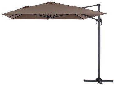"""Parasol jardin déporté Alu """"Sun 4"""" - Rectangle - 3 x 4 m - Taupe"""