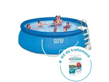 Pack Piscine autoportée Easy Set Intex 4,57 x 1,22 m + Traitement pour piscines < 10 m³
