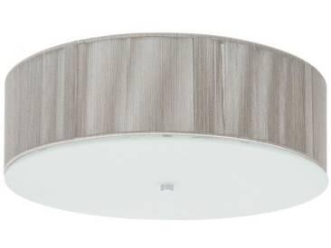 Plafonnier Napoles fil noir diametre 40 cm hauteur 12 cm E27 60W beige