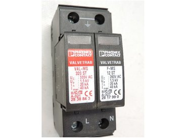 Parafoudre modulaire 20kA type 2 pour installation monophasé 230V VAL-MS 320/1+1 PHOENIX CONTACT 2804380