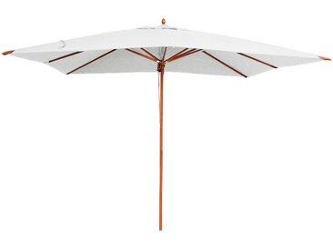 Parasol écru en bois 300x400 cm Rangoon