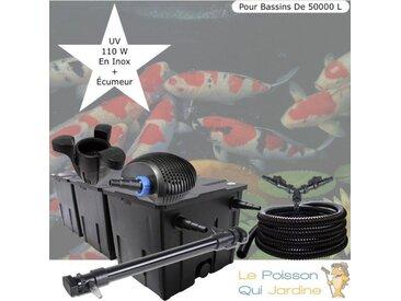 Kit filtration complet 110W + écumeur pour bassins de 50000 litres