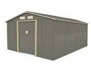 Abri de jardin métal 12,78 m2. + kit dancrage inclus