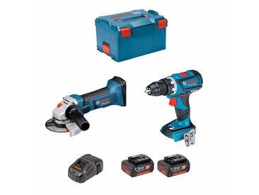 BOSCH Kit GSR 18V-60C + GWS 18-125 V-LI (2 x 3,0Ah + GAL1880CV + L-Boxx 238)