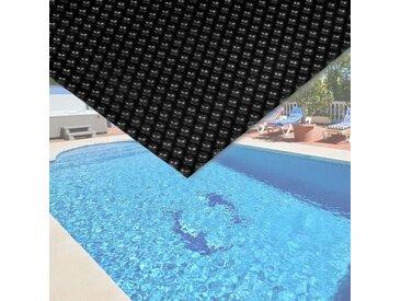 Bache à bulle été 400µ noire pour piscine 5 x 8 m