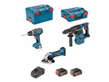 BOSCH Kit PSL3P3C (GBH 18 V-26F + GSB 18V-21 + GWS 18-125 V-LI + 2 x 5,0Ah + GAL1880CV + L-Boxx 238 + L-Boxx 136)