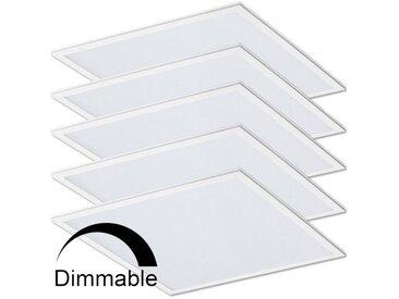 Lot de 5 Dalles Dimmable lumineuse LED 40W (340W) 600x600 | Blanc neutre 4000K