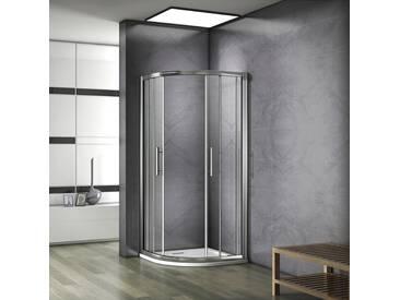 Porte de douche 80x80x185cm cabine de douche 1/4rond