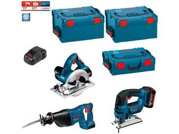 BOSCH Kit PSL3WGM2A (GST 18 V-LI + GKS 18 V-LI + GSA 18 V-LI + 2 x 4,0 Ah + GAL1880CV + 2 x L-Boxx 238 + L-Boxx 136)