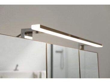 Spot de salle de bains avec éclairage LED - Chrome - 5,2 cm x 80 cm (HxL)
