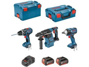 BOSCH Kit PSLG3M2C (GBH 18V-26F + GSB 18V-21 + GDS 18V-LI + 2 x 4,0Ah + GAL1880CV + L-Boxx 238 + L-Boxx 136)