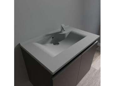 Plan simple vasque design gris RÉSILOGE - 70 cm