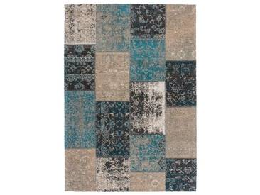 Tapis fait main en polyester Cocoon Lalee Bleu 120x170
