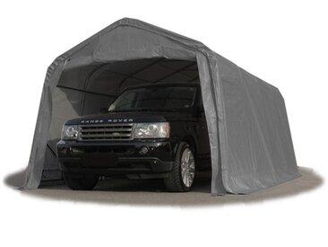 INTENT24 Tente-garage carport 3,3 x 6,0m d'élevage abri agricole tente de stockage bâche 550g/m² armature solide gris