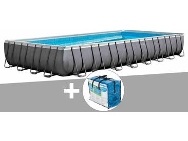 Kit piscine tubulaire Intex Ultra Silver rectangulaire 9,75 x 4,88 x 1,32 m + Bâche à bulles