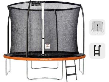 GREADEN Trampoline de Jardin Rond Freestyle « + » 305 Pack Plus + Échelle