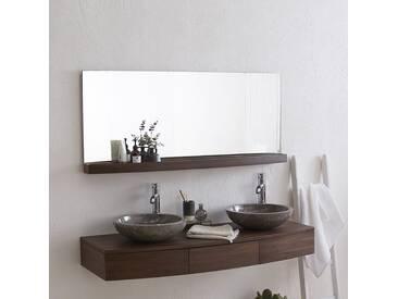 Miroir en bois de noyer Miles 140x60