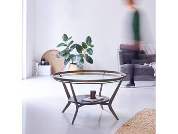 Table basse ronde en marbre et métal 80 Ambre