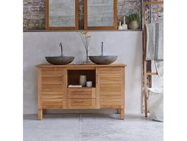 Meuble Salle de bain en bois de teck 125 Soho