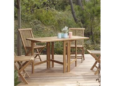 Table dextérieur en bois de teck 130 Capri