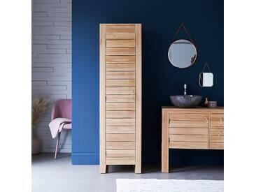 Colonne de salle de bain en bois de teck 180 Minimalys