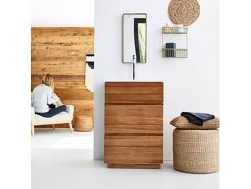 Meuble Salle de bain en bois de chêne et céramique 60 Karl
