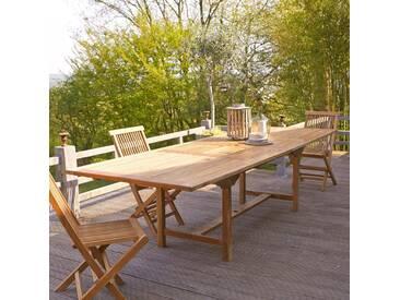 Table dextérieur rectangulaire en bois de teck 200 Capri