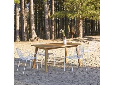 Table dextérieur en bois de teck 140 Pamoa