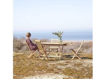 Table dextérieur en bois de teck 120 Capri